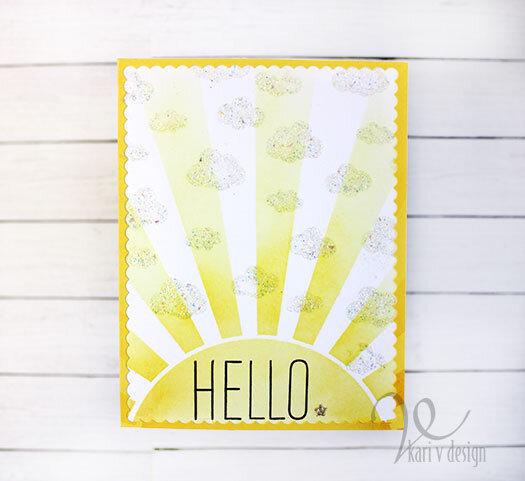 Sunny Hello card