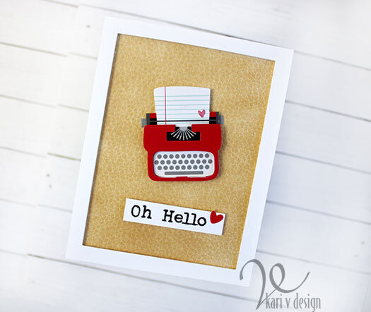 Oh, Hello! Typewriter card