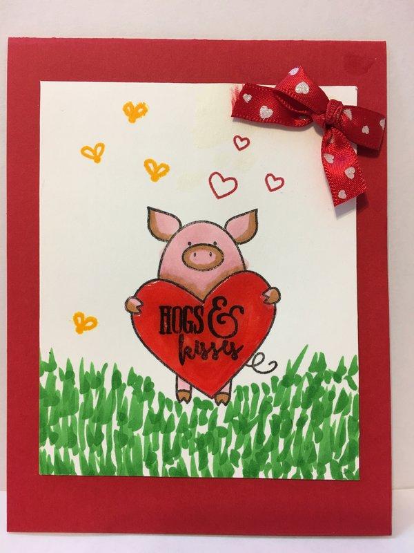 Cute Valentine Pig Card