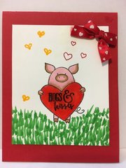 Cute Valentine Pig Card
