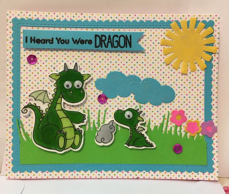 Get Well Card -- Parent Dragon Notices Baby Dragon not well
