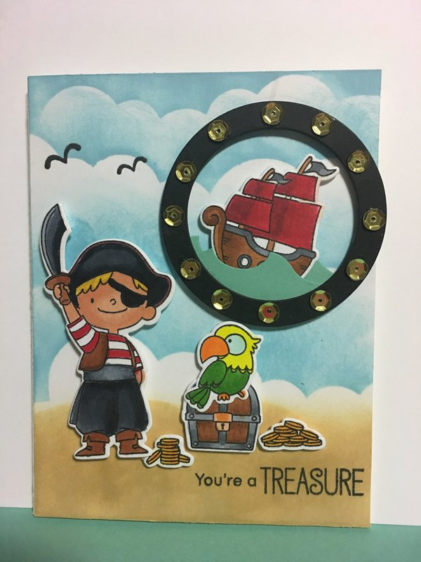 Cute Little Pirate Card using My Favorite Things