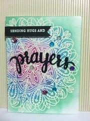 Sympathy Card, Send Prayers & Hugs