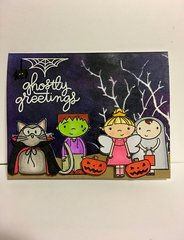 Little Kids Trick-or-Treating Card