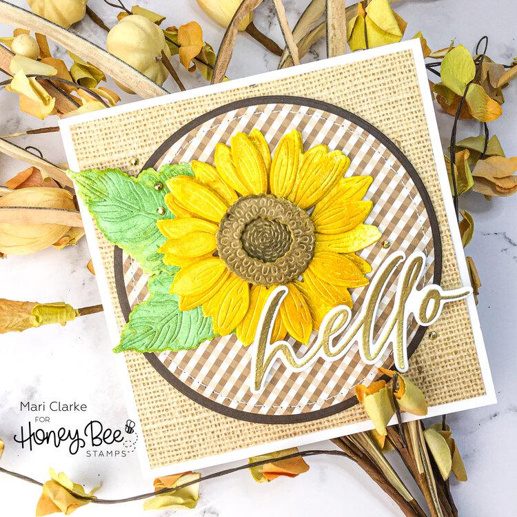 Lovely Layers: Sunflower Card by Mari Clarke