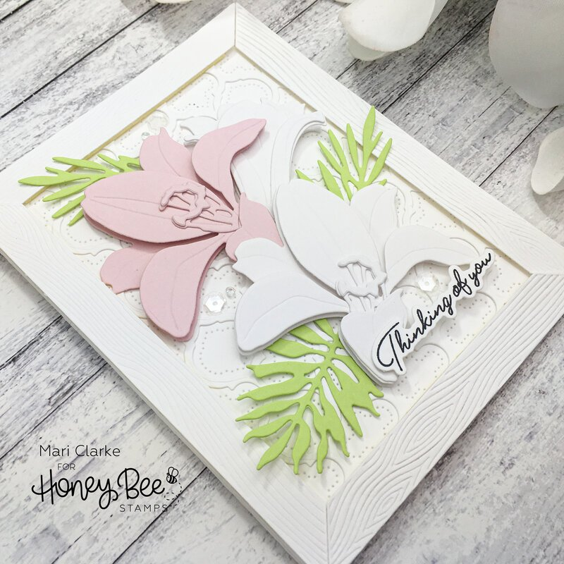 Lovely Layers Easter Lily Card by Mari Clarke