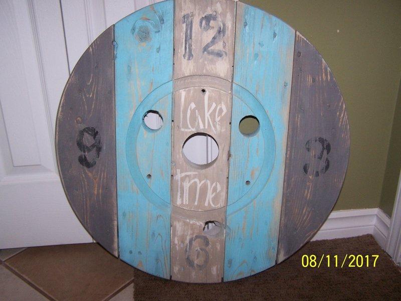 2ft. Beachy Spool Clock