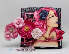 Bloom Girl card