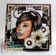 Bloom Girl Emily card