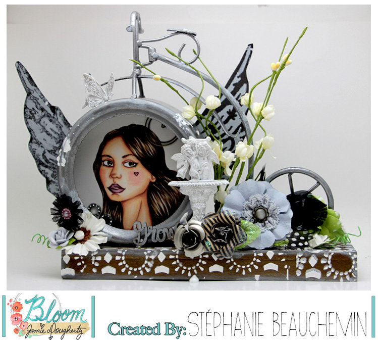 Bloom Girl - Altered bike frame with Lacie