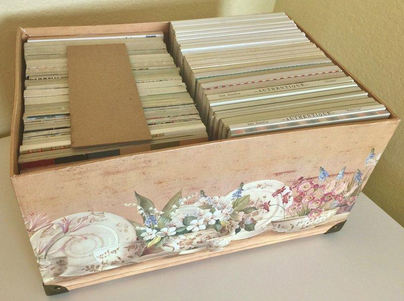 6x6 Paper Packs Organized