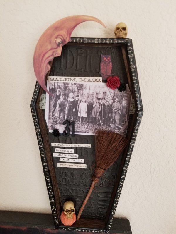 Tim Holtz Coffin Vignette
