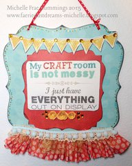 Craft Room- Decorative Wall Plaque
