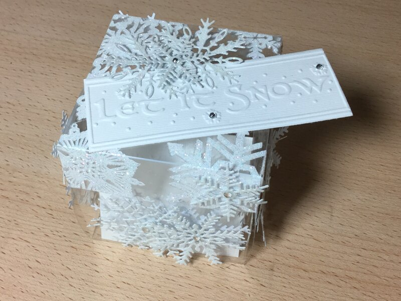 Let It Snow acetate gift box
