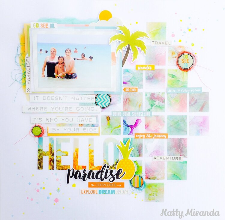 Hello Paradise 12x12 Layout
