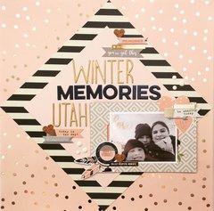 Winter Memories 12x12 Layout