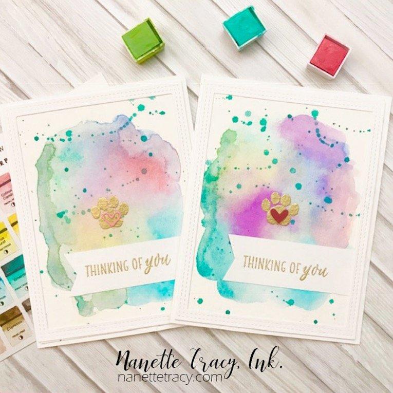 Pet Bereavement Watercolor Cards