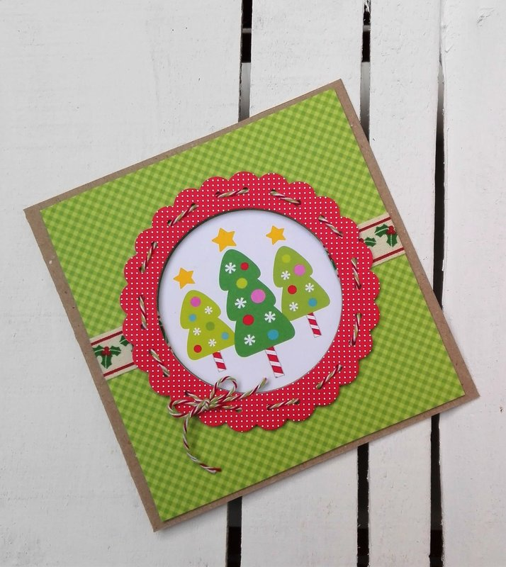 CANDY CHRISTMAS TREES CARD