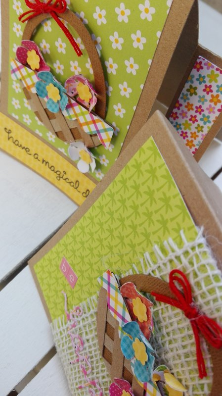 FLOWER BASKET CARDS DUO