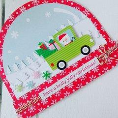 SANTA IS COMING CHRISTMAS CARD