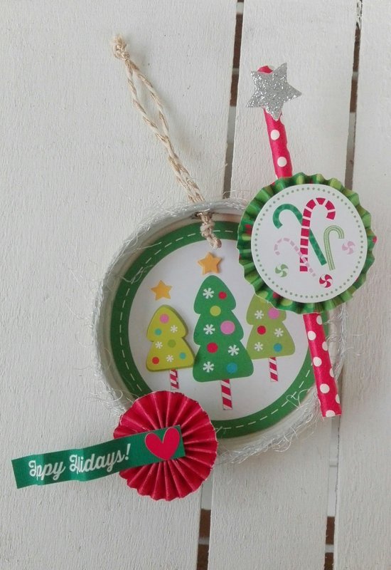MASON JAR LID CHRISTMAS DECOR