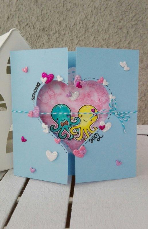 """""""SENDING LOVE"""" FOLDED CARD"""