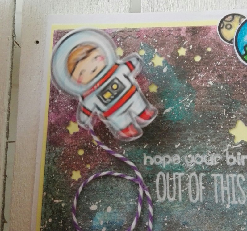 """""""OUT OF THIS WORLD"""" BIRTHDAY CARD"""