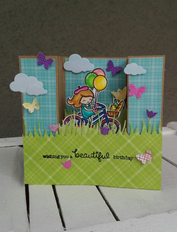 """WHISHING YOU A BEAUTIFUL BIRTHDAY""CENTER BOX CARD"