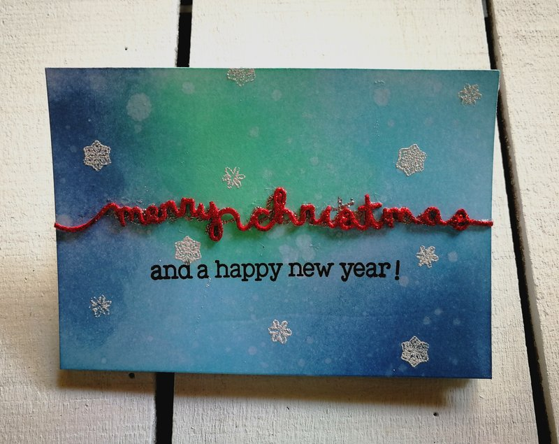 """MERRY CHRISTMAS"" 3 FOLD CARD"