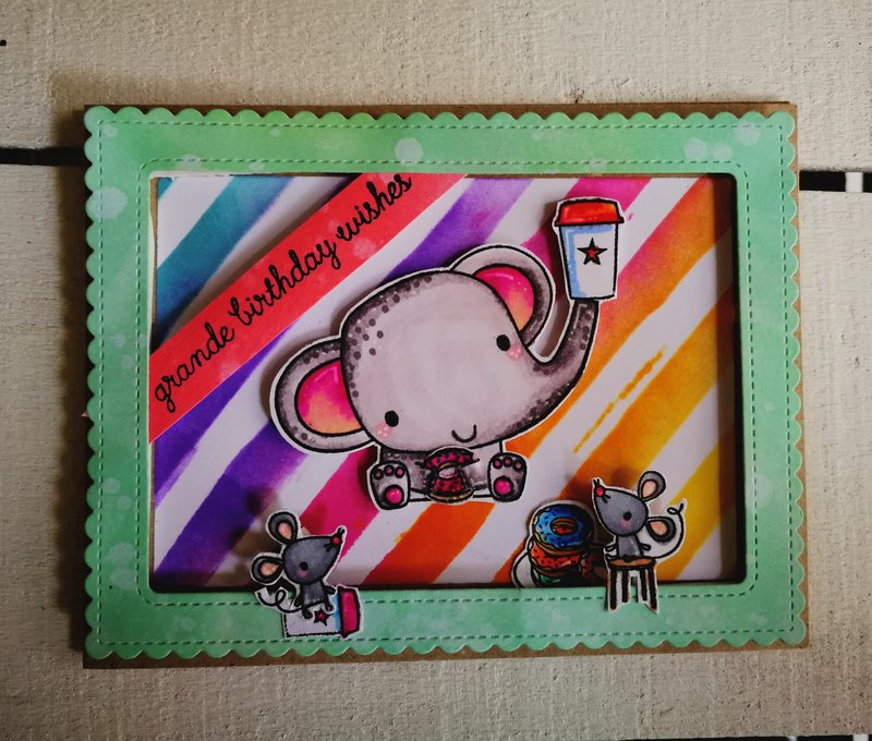 """GRANDE BIRTHDAY WISHES"" CARD"