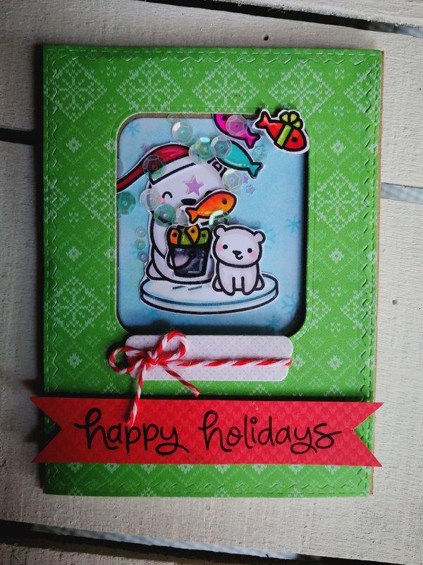 """""""HAPPY HOLIDAYS"""" SHAKER CARD"""