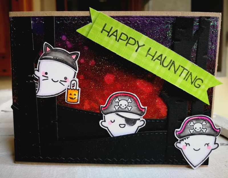 """HAPPY HAUNTING"" CARD"