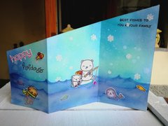 """HAPPY HOLIDAYS"" Z-FOLDED CARD CARD"