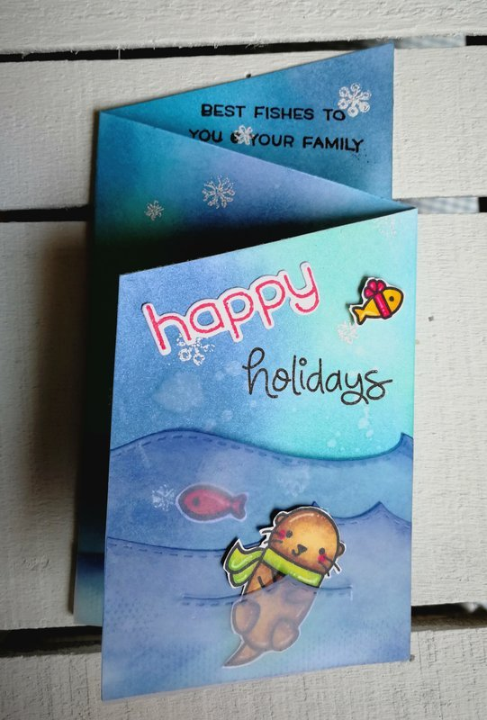"""HAPPY HOLIDAYS"" Z-FOLDED CARD CARD"