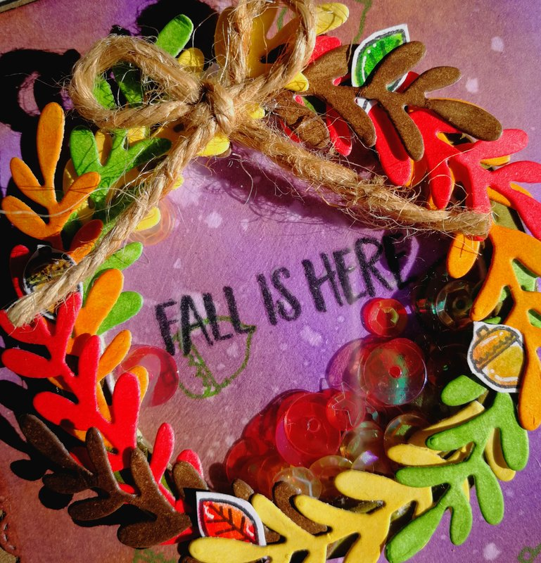 """""""FALL IS HERE"""" POP UP & SHAKER CARD"""