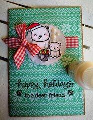 """HAPPY HOLIDAYS"" CHRISTMAS CARD"