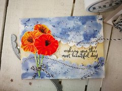 """""""LAYERED POPPIES"""" CARD"""
