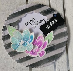 WATERCOLOR FLOWERS BIRTHDAY CARD