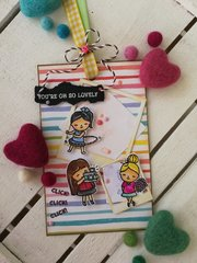 SWEET GIRL TAG/BOOKMARK