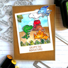 DINOSAURUS BIRTHDAY CARD