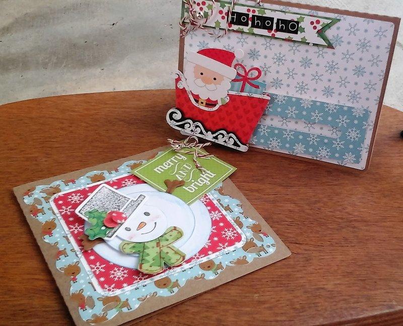 SANTA'S SLEIGHT PENNY SLIDER CARD