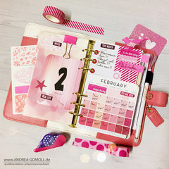 Light Pink Color Crush Planner Page-Layout