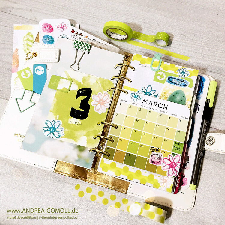 March in my white Color Crush Planner