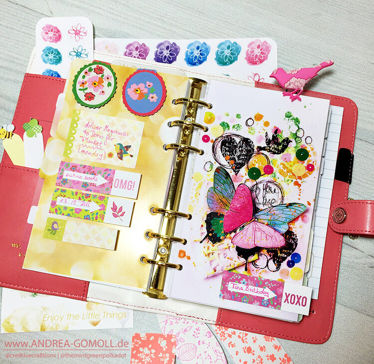 * Spring in my Light Pink Color Crush Planner *
