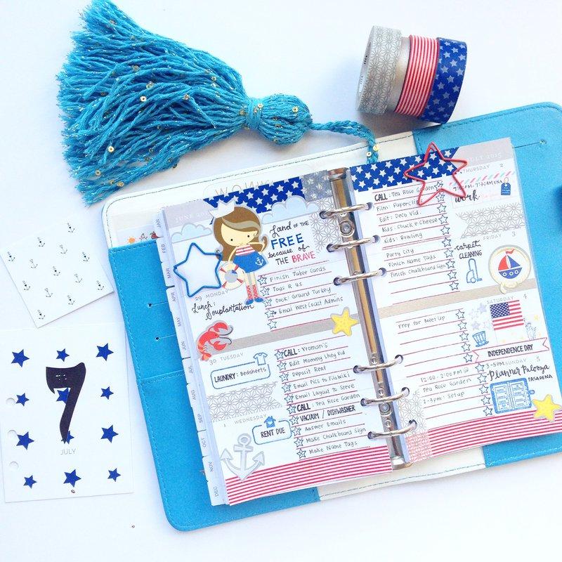 Color Crush Planner - Patriotic Theme