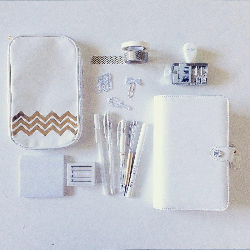 Color Crush Planner - Classic White
