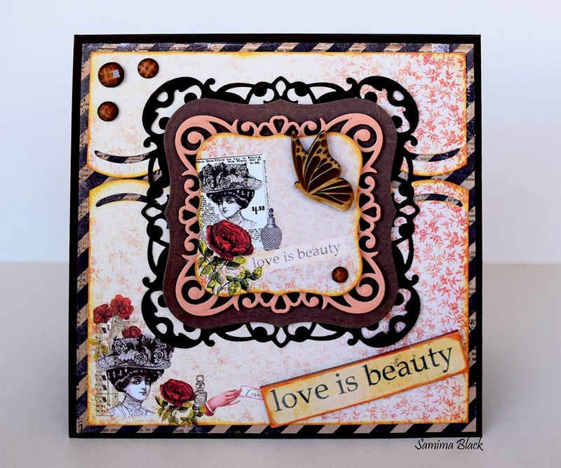 Love Is Beauty Card in The Box.