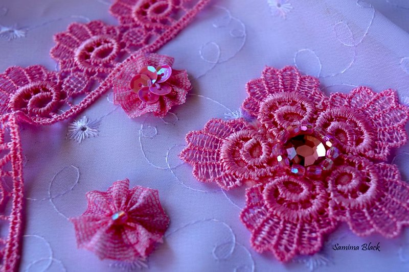 Lace flowers.
