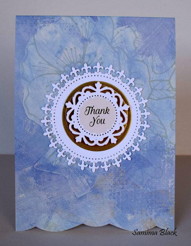 Blue Thank You Card Set.