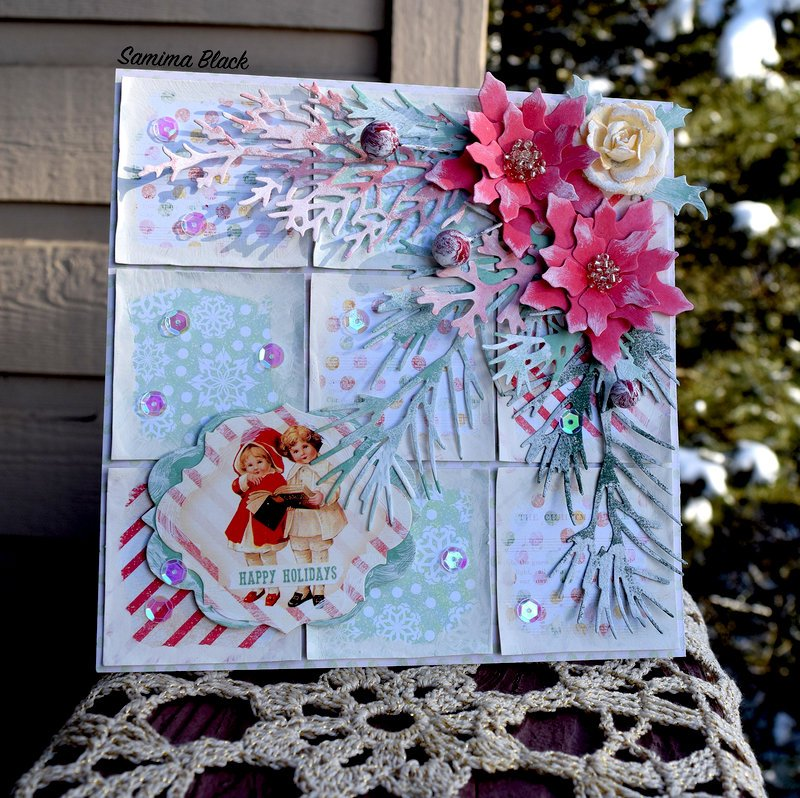 Sweet Peppermint Patchwork Card